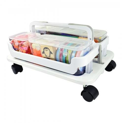 Deflecto Stackable Caddy Organiser and Stack and Go Wheel Base