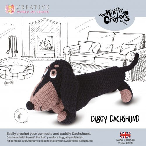 Knitty Critters Dachshund Dog