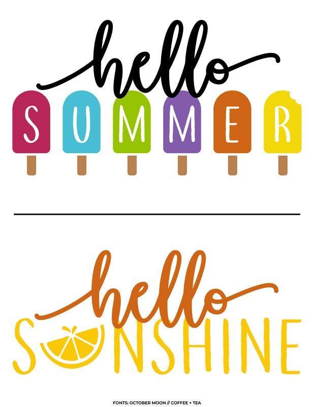 Hello Summer Bright