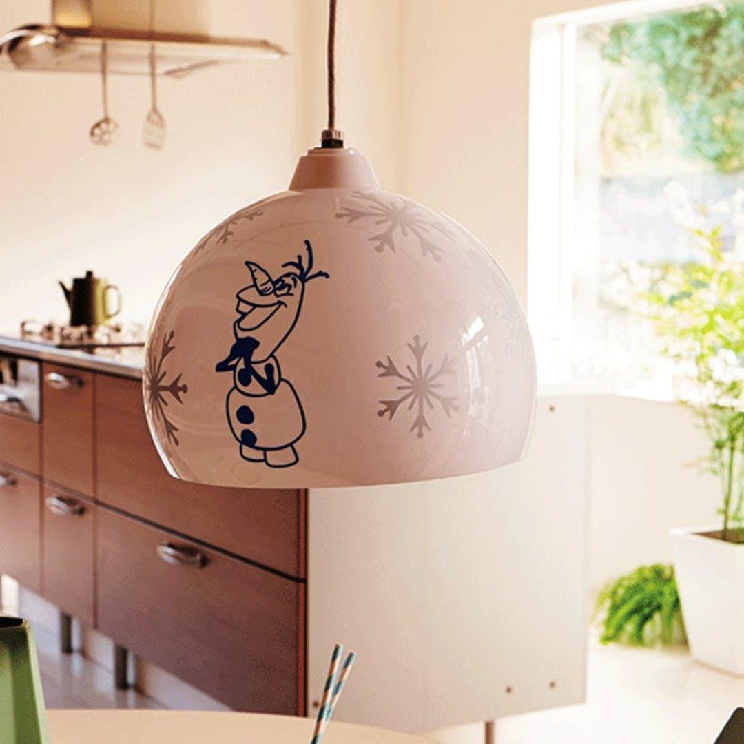 snowman lampshade
