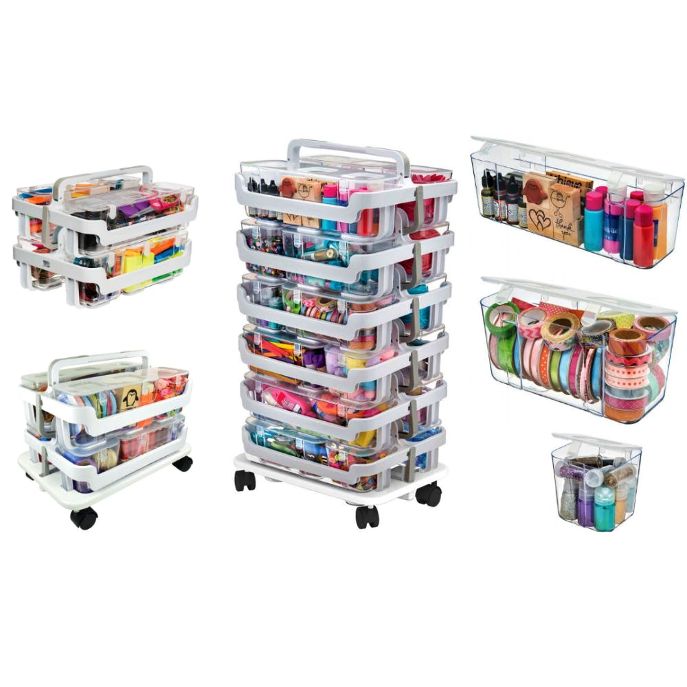 Deflecto Stackable Storage
