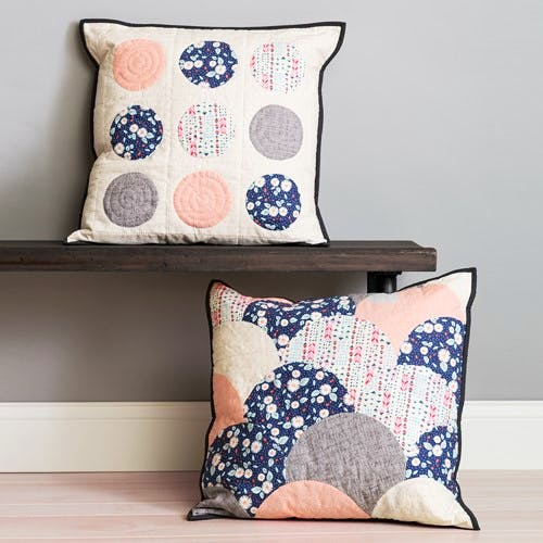 Circle Cut Pillows